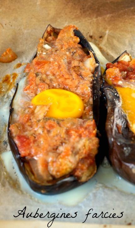 Recette d'aubergine farcie végétarienne , facile, saine et gourmande :)