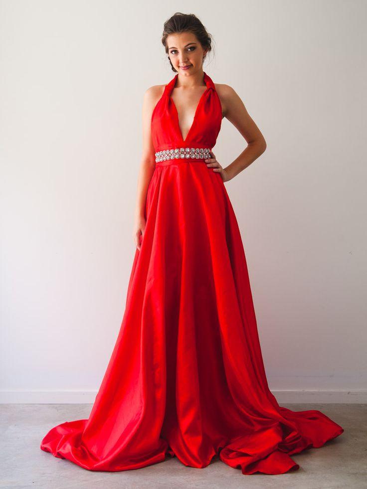 Sabella Gown with Red Samsara belt by When Freddie met Lilly shop online at: www.whenfreddieme... INSTAGRAM: #whenfreddiemetlilly