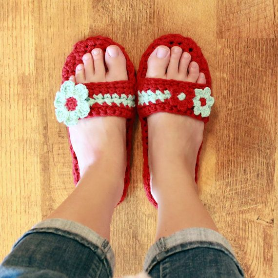 Instant Download  Crochet Pattern  Pammy Sandals with