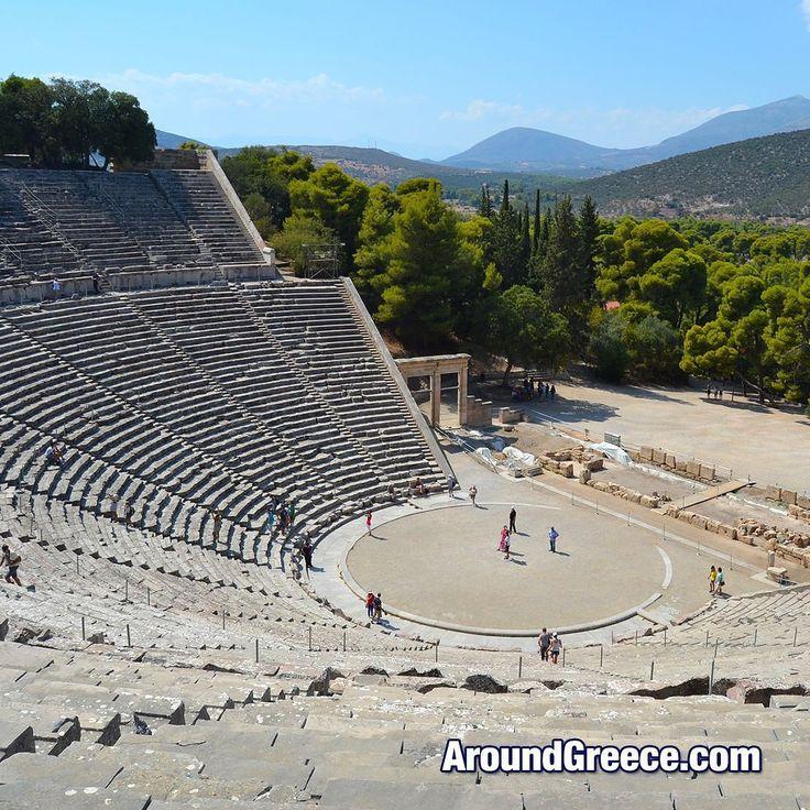 The stunning ancient theatre of Epidaurus in the Peloponnese region of Greece  #Epidaurus #Ancient #Greece #Greek #Peloponnese #acoustics #archaeology #holidays #tourism #travel #vacations #visitgreece #aroundgreece