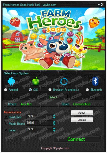 The fastest, easiest way to get Farm Heroes Saga Cheats is from presented on this website. Updated version of Farm Heroes Saga Cheats running up to date.