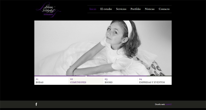 Web para Fotografía Liliana Fernández