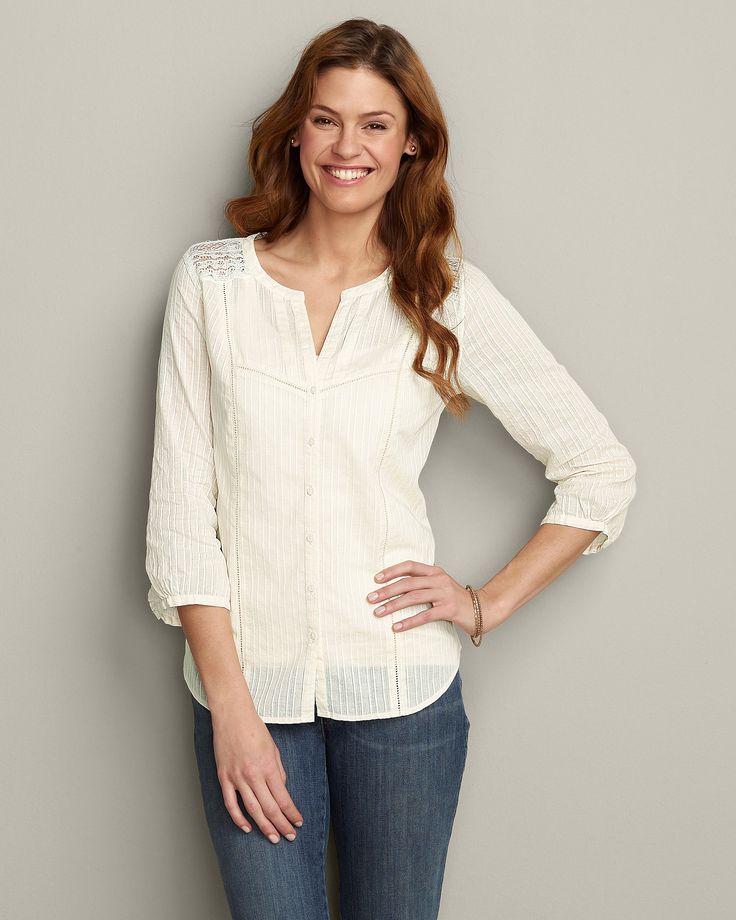 Three-Quarter Sleeve Solid Shirt