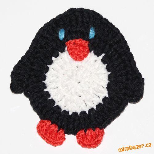 Návod na háčkovanou aplikaci tučňáka