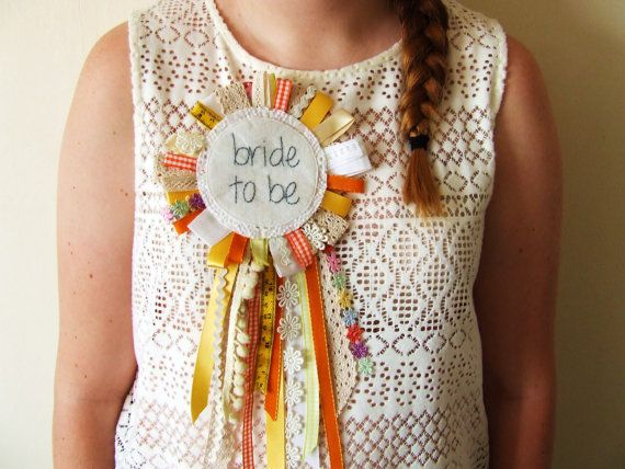 Bride To Be Large Ribbon Rosette Hen Party by LaurenECrawford, £14.00