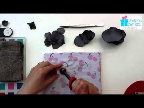 Shaping leather rose petals with millinery tools - https://www.youtube.com/watch?v=4BuxS2M_tco