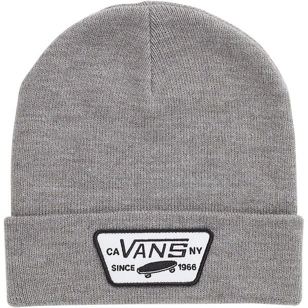 Vans Milford Beanie (420 UYU) ❤ liked on Polyvore featuring accessories, hats, beanies, beanie hats, vans hats, vans beanie, beanie cap hat and beanie caps