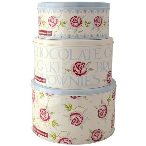 ROSE & BEE | nested round cake tins | set of 3. Removable, well sealed airtight lids. Perfect housewarming gift