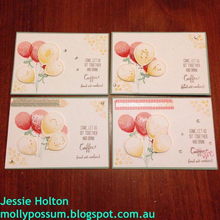 Balloon Celebration Party! #JessieHolton #MollyPossumCreations #StampinUp #BalloonCelebrations
