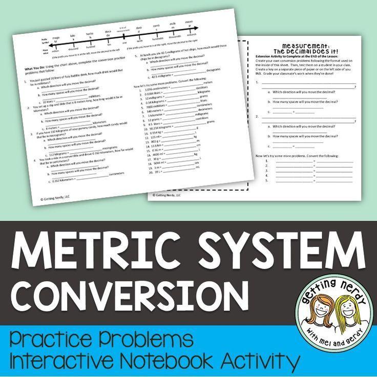 Metric System Chart for Kids - sciencestruck.com