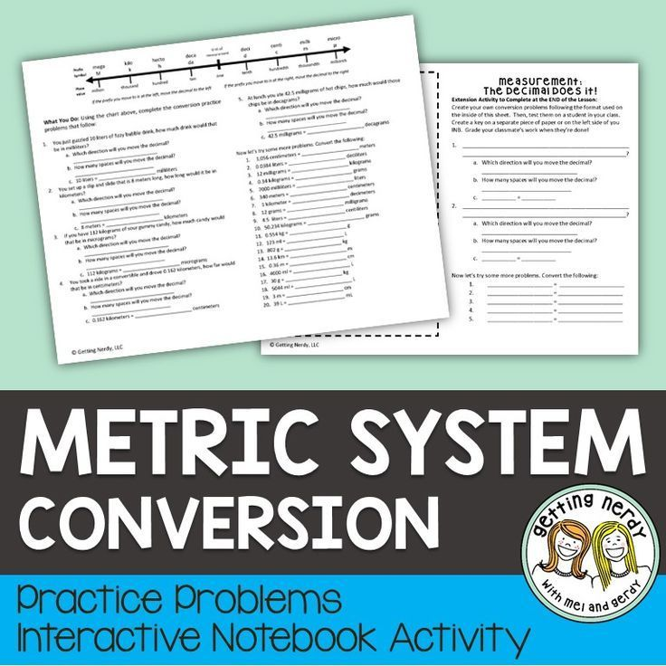 Learn metric system