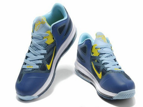 separation shoes b52f1 14171 Nike Air Max LeBron 9 Low Obsidian Cyber,Style code510811-401, ...