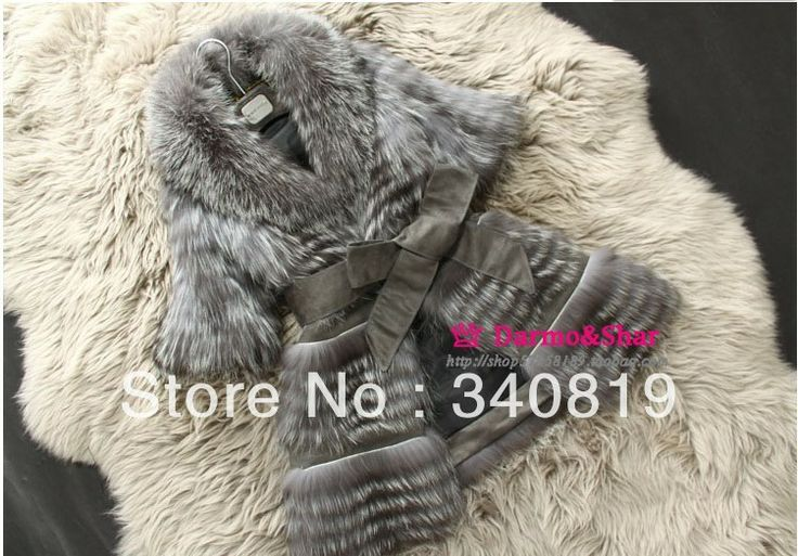100% genuine fox fur jacket 2013 fashion high quality women's natural raccoon fur long coat Lady waistcoats big plus size EMS $395.48