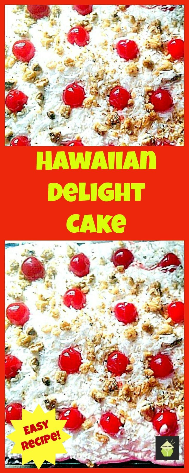 Hawaiian Delight Poke Cake - You need to take a look at what's in this! Pineapples, Coconut and vanilla. Perfect delicious combo!