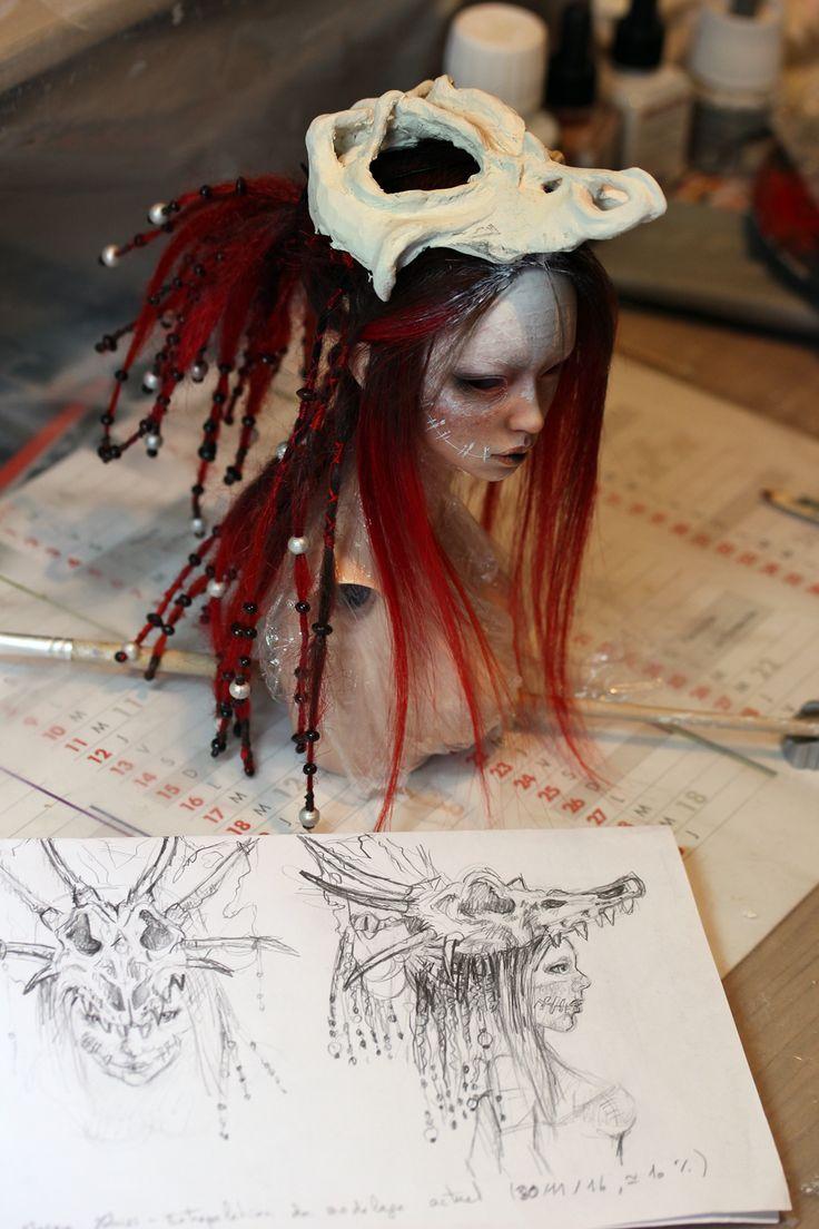 WIP - Dragon' skull hekmet by Follow-the-Wind