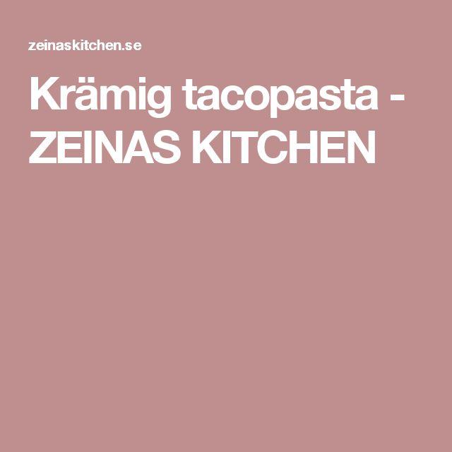 Krämig tacopasta - ZEINAS KITCHEN