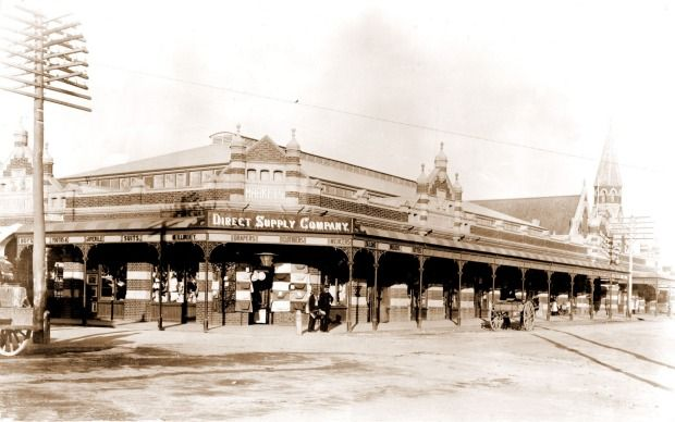 A view of the Fremantle Markets from its early days.