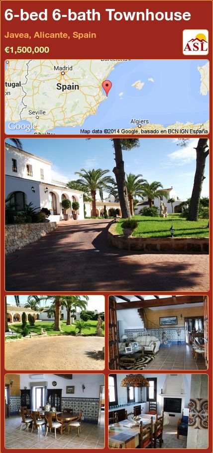 6-bed 6-bath Townhouse in Javea, Alicante, Spain ►€1,500,000 #PropertyForSaleInSpain