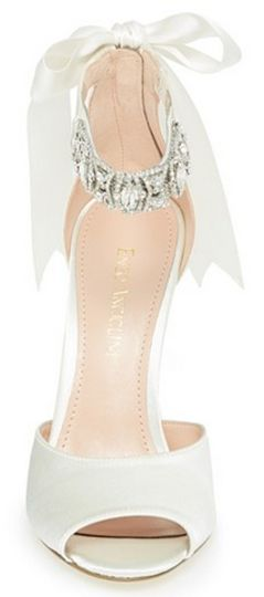 Embellished peep toe sandal with bow detail http://rstyle.me/n/ut5y9nyg6