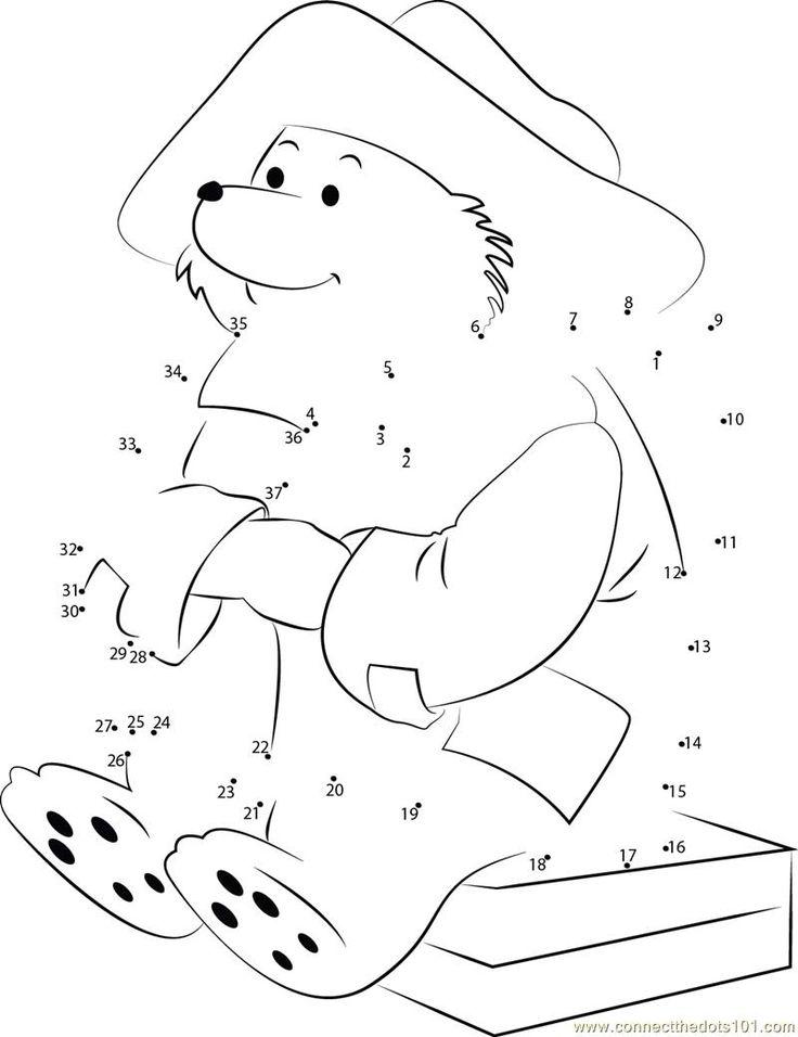 Join the dots Paddington Bear worksheet