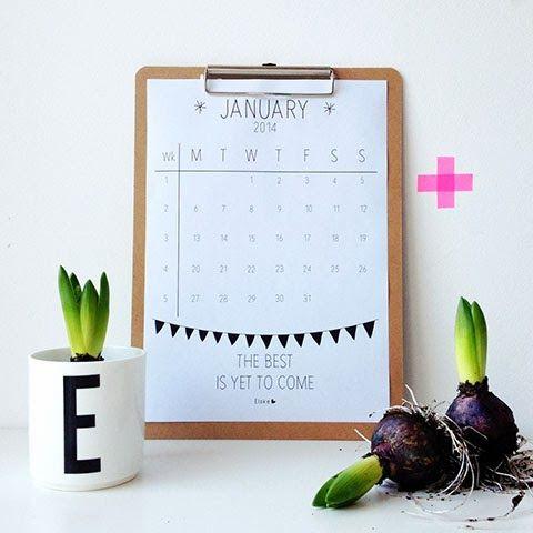 FREE printable 2014 January calendar - #printable calendar | Elske | www.elskeleenstra.nl