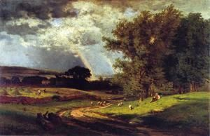 A Passing Shower  George Inness