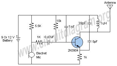Easy FM Transmitter Circuit Diagram (With images
