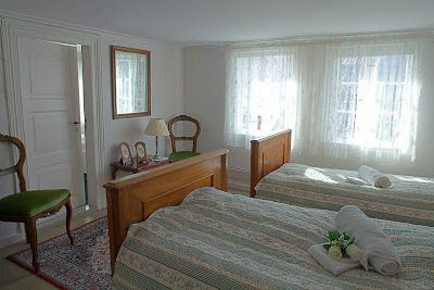 One of the bedrooms, before re-opening