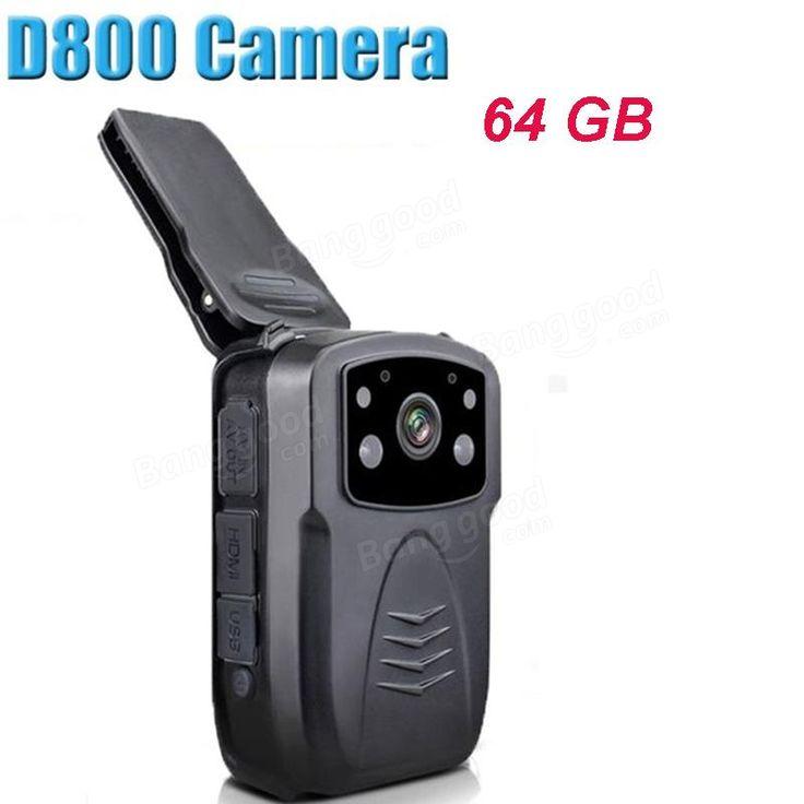 BOBLOV 64GB D800 Full Body 1080P HD Night Vision IR Police Camera Mini Police Worn Camera Sale - Banggood.com