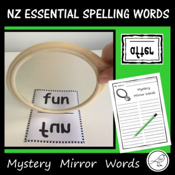 Have fun learning to spell the essential spelling words by looking at them in a mirror. A great hands-on activity that will keep your students engaged during literacy time. Suggested Use: ♦ INDIVIDUALLY - Students select a word card and read it in the mirror.