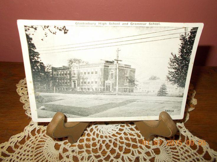 OLD USED POSTCARD-GLASTONBURY HIGH SCHOOL AND GRAMMAR SCHOOL-POSTMARKED NOV. 10 1938 | eBay!