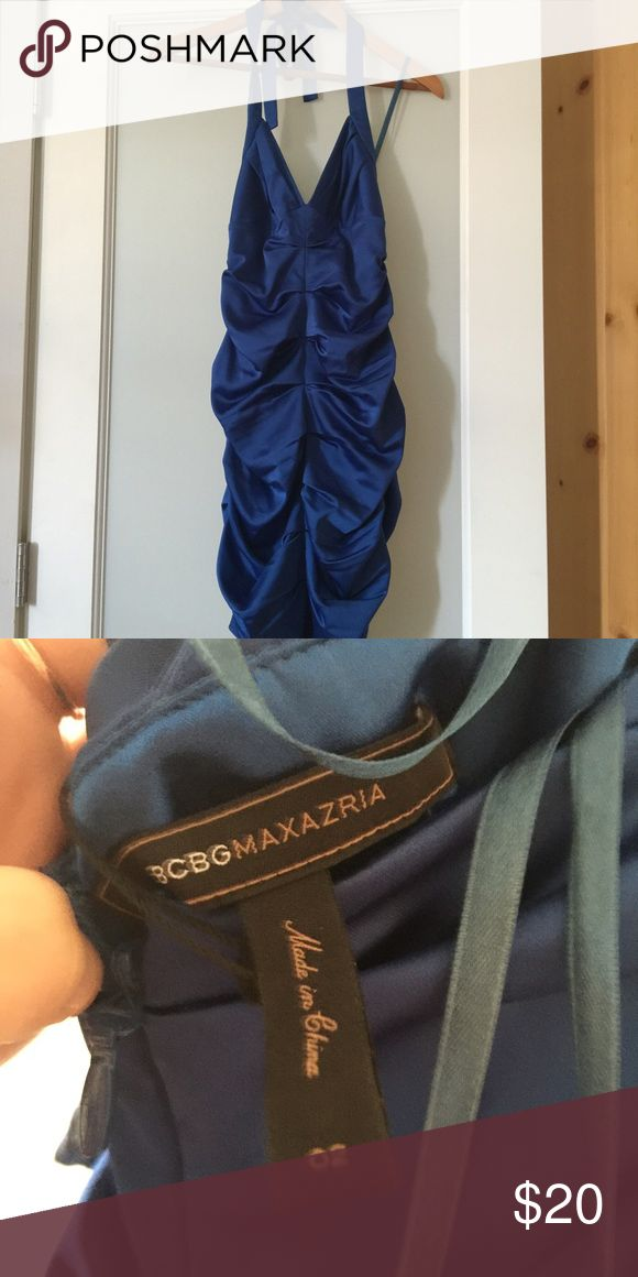 BCBG MAXAZRIA Blue Night Out Dress A gorgeous and sexy dress for a night out! Only been worn once. Curve hugging dress makes you look like a goddess! ✨MAKE AN OFFER✨ BCBGMaxAzria Dresses