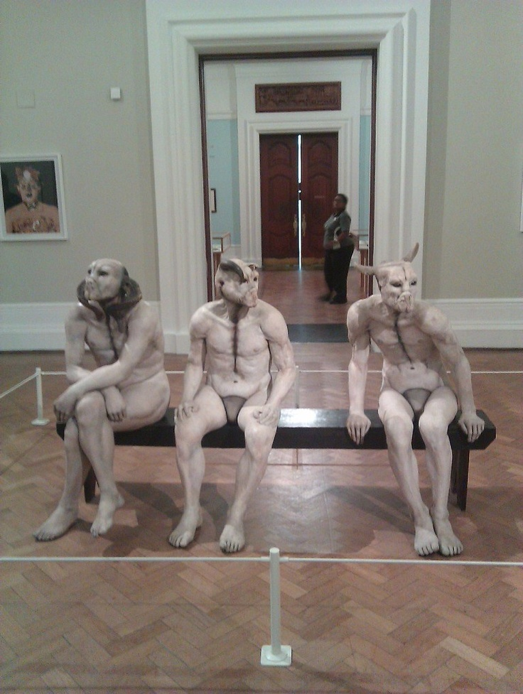 'Butcher Boys' and other sculptures by Jane Alexander