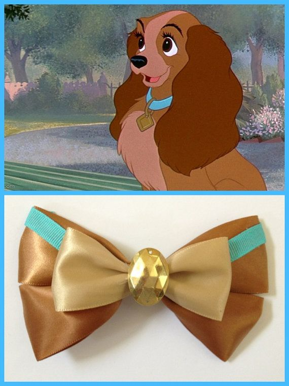 Lady and the Tramp Hairbow I need this. Will talk to Stephanie about making it for me. I think I might trade in the gold center for a diamond.