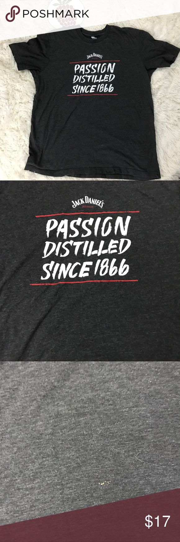 """Jack Daniels passion Crew Neck t Shirt Size XL *small spot on bottom, see pictures Measurements  Length 27"""" Armpit to armpit 23 1/2"""" Inventory H21 Shirts Tees - Short Sleeve"""