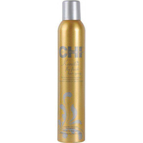 CHI Keratin Flex Finish Hair Spray : Laque lissante tenue souple et légère pourun maintien ultra-lisse. Imprégnée de Kératine cette laquelissante renforce voscheveux, réduit la casse, élimine les frisottis et protège contre l'humidité.
