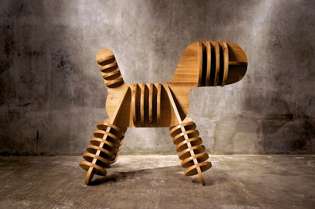 Stray: Eero Aarnio's Puppy Chair by Magis Reimagined by Jagnus Design Studio for Magis and Dimensione Exhibit