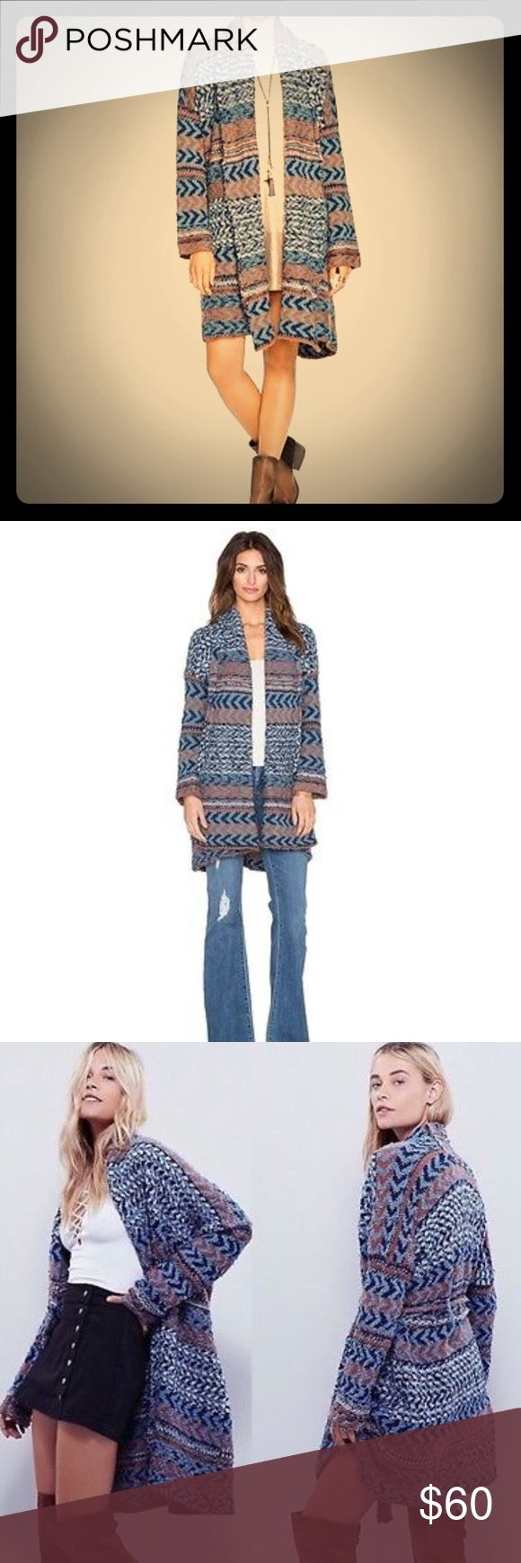 Free People Iona Tribal Cardigan NWOT Free People Iona Tribal Cardigan NWOT. Very warm comfy cardigan with drawstring. Make an offer! Free People Sweaters Cardigans