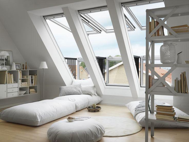 Mooie ramen incl balkon voor de zolder