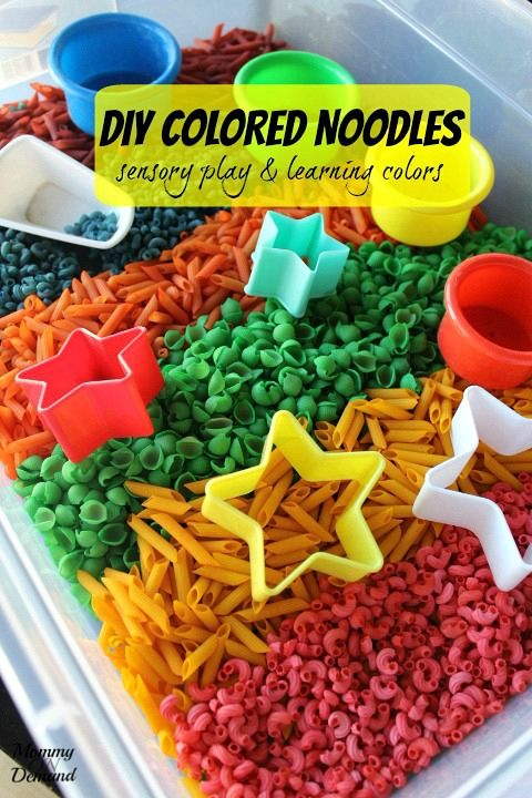 Looking for a fun way to play and learn colors! This DIY Colored Noodles for Sensory Play is just what you need to have fun and learn along the way.