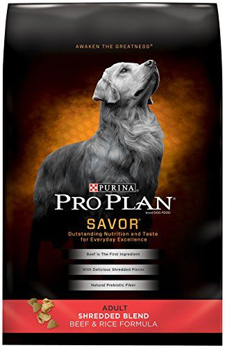 Purina Pro Plan SAVOR Adult Shredded Blend Beef & Rice Formula Dry Dog Food - (1) 35 lb. Bag