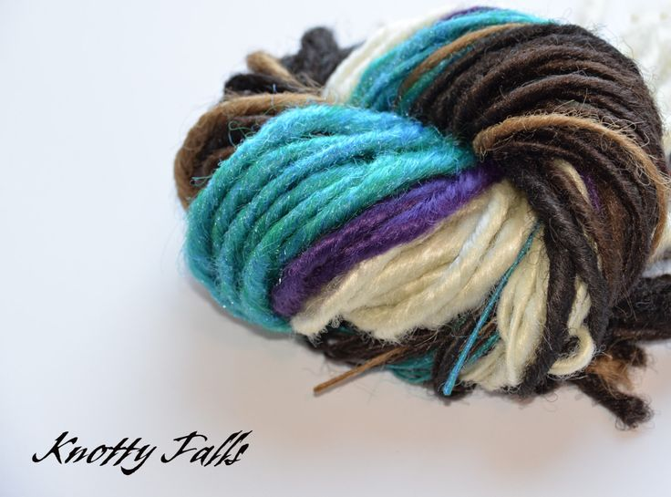 8 best knotty falls custom dread fall hair extensions on facebook items similar to single ended dread fall hair extensions purple teal blond brown on etsy pmusecretfo Images