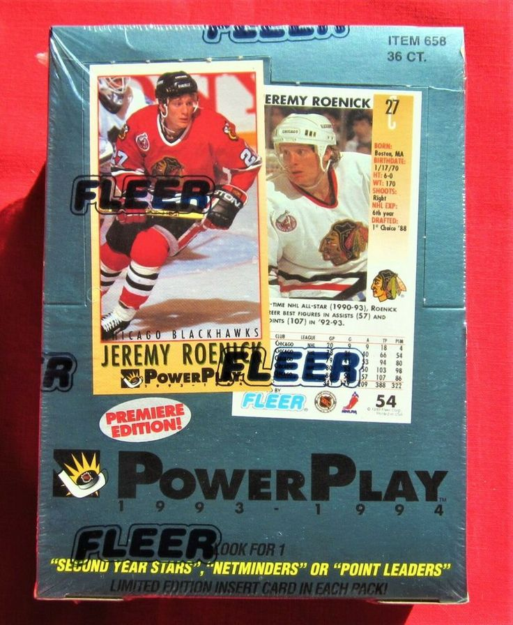 199394 fleer power play hockey cards factory sealed box