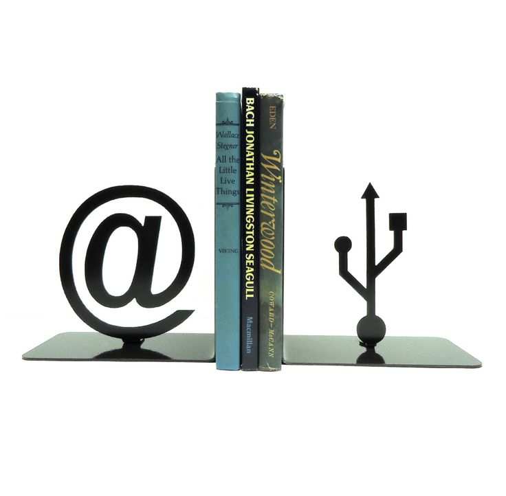 At Symbol and USB Symbol Metal Art Bookends - FREE USA Shipping by KnobCreekMetalArts on Etsy https://www.etsy.com/se-en/listing/86485449/at-symbol-and-usb-symbol-metal-art