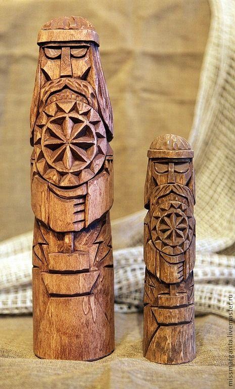Купить Сварог-изваяние древнеславянского божества - чур, боги, язычество, резьба по дереву, славянский оберег