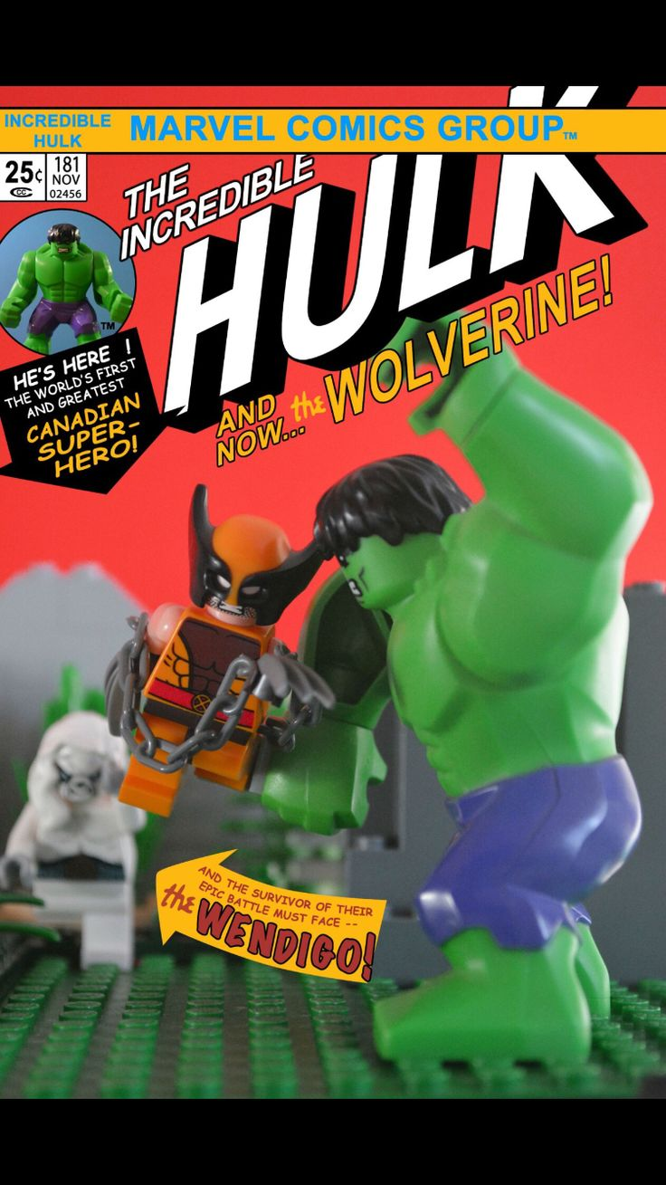 The Incredible Hulk Wolverine Wendigo Marvel Comics Canada LEGO Re-Creation Canadian Super Hero