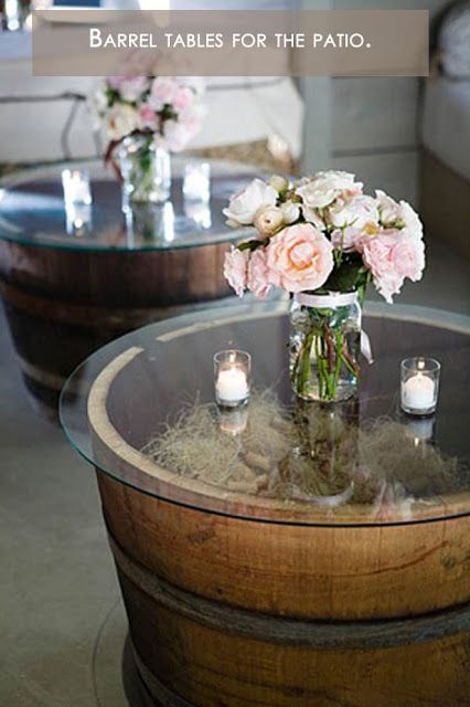 Barrel Table for Patio