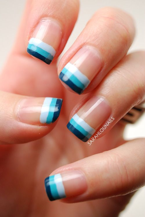 Only Best 25+ Ideas About Blue French Manicure On