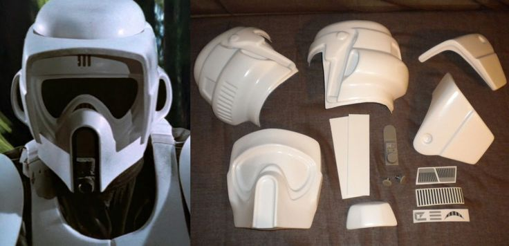 Star Wars Biker Scout Trooper. This helmet has been made to look like the same of the screen used costume. - Face: 1 piece 2mm, Visor 2 pieces 2mm, Helmet 2 pieces 2mm. Helmet Kit. Some pictures provided are to illustrate what the Helmet looks like when is trimmed and assembled. | eBay! Mehr