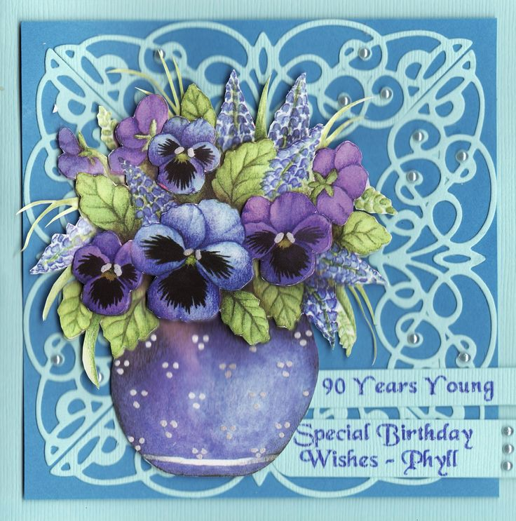 3D '90 Years Young - Special Birthday Wishes - Phyll' Card